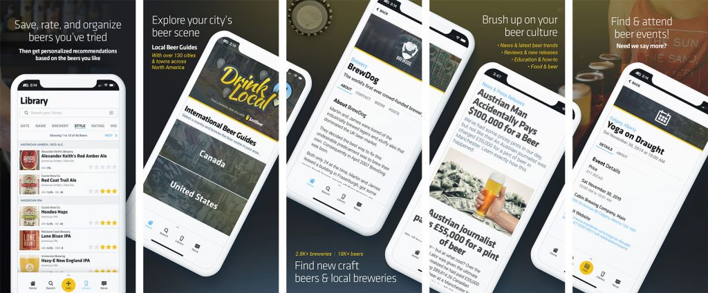 JustBeer Mobile App Screenshots